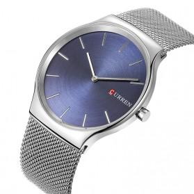 Curren Watch Jam Tangan Analog Pria - mk55 - Silver - 2
