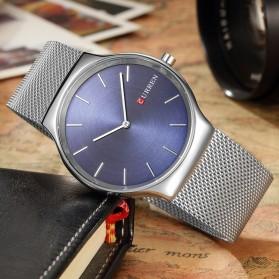 Curren Watch Jam Tangan Analog Pria - mk55 - Silver - 3