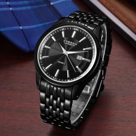 Curren Jam Tangan Analog Pria - 8052 - Silver Black - 2