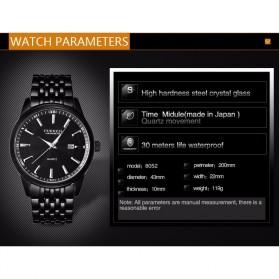 Curren Jam Tangan Analog Pria - 8052 - Silver Black - 3