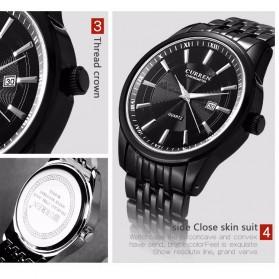 Curren Jam Tangan Analog Pria - 8052 - Silver Black - 6