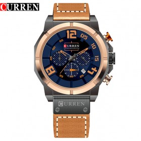 Curren Watch Jam Tangan Analog Pria - 8287 - Golden/Blue - 1