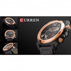 Curren Watch Jam Tangan Analog Pria - 8287 - Golden/Blue - 7