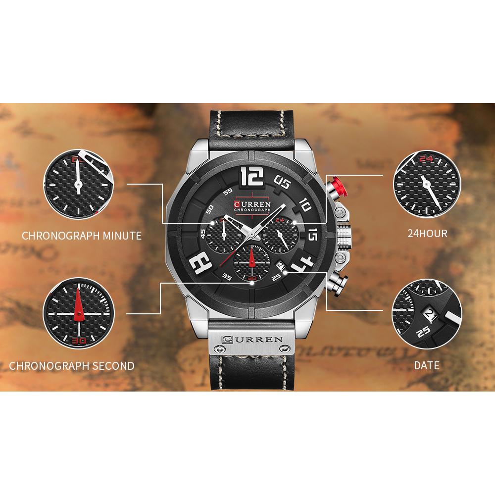 Skmei Jam Tangan Analog Strap Leather 1208 Casual Pria Condotti Cn2040 S01 L05 Coklat Ring Silver Jual Men Watch Original Source Curren