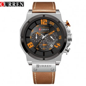 Curren Watch Jam Tangan Analog Pria - 8287 - Black/Orange
