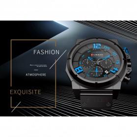 Curren Watch Jam Tangan Analog Pria - 8287 - Black/Orange - 2