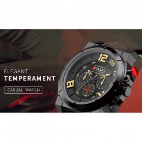 Curren Watch Jam Tangan Analog Pria - 8287 - Black/Orange - 3