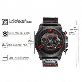 Curren Watch Jam Tangan Analog Pria - 8287 - Black/Orange - 4