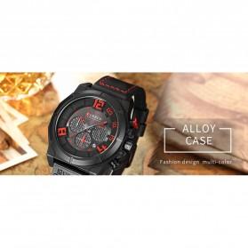 Curren Watch Jam Tangan Analog Pria - 8287 - Black/Orange - 5