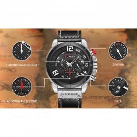 Curren Watch Jam Tangan Analog Pria - 8287 - Black/Orange - 6