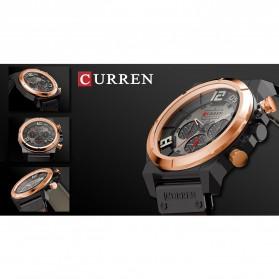 Curren Watch Jam Tangan Analog Pria - 8287 - Black/Orange - 7
