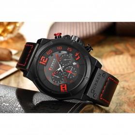 Curren Watch Jam Tangan Analog Pria - 8287 - Black/Orange - 8