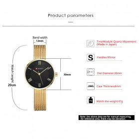 Curren Watch Jam Tangan Analog Wanita - 9020 - Golden - 2