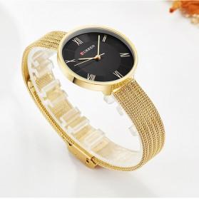 Curren Watch Jam Tangan Analog Wanita - 9020 - Golden - 7