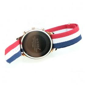 O.T.Sea Jam Tangan Kasual Pria Strap Nylon - 9884 - Black - 4