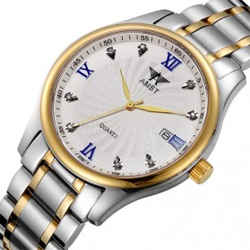 AMST Jam Tangan Analog Pria Stainless Steel - AM2001 - Silver/Gold - 2