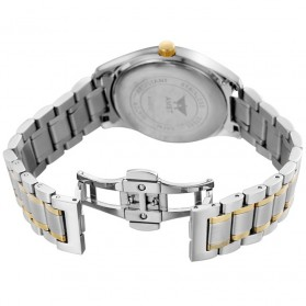 AMST Jam Tangan Analog Pria Stainless Steel - AM2001 - Silver/Gold - 5