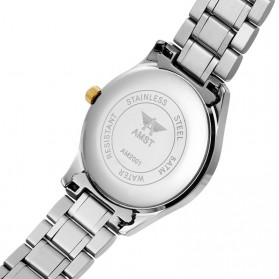 AMST Jam Tangan Analog Pria Stainless Steel - AM2001 - Silver/Gold - 6