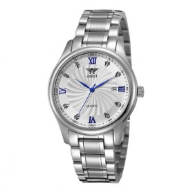 AMST Jam Tangan Analog Pria Stainless Steel - AM2001 - Silver Blue