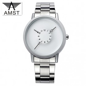 AMST Jam Tangan Analog Pria Stainless Steel - AM1042 - Silver