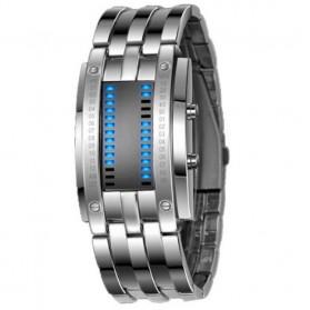 AMST Jam Tangan Digital Unik Pria - AM1041 - Silver