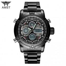 AMST Jam Tangan Militer Analog Digital Pria - AM3022 - Black/Black