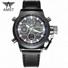 AMST Jam Tangan Digital Analog Pria - AM3003 - Black/Black