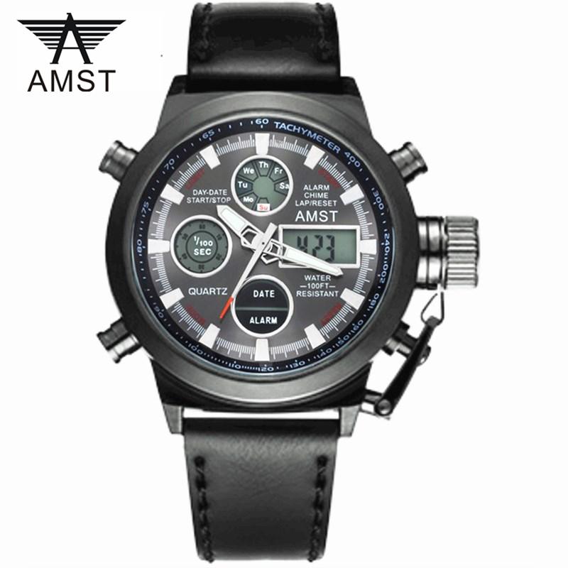 ... AMST Jam Tangan Digital Analog Pria - AM3003 - Black Black - 1 ... 2deff42273
