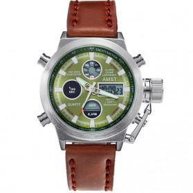 AMST Jam Tangan Digital Analog Pria - AM3003 - Brown/Green