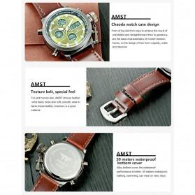 AMST Jam Tangan Digital Analog Pria - AM3003 - Brown/Green - 4