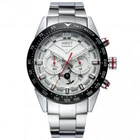 AMST Jam Tangan Chronograph Analog Pria - AM3021 - White/Silver