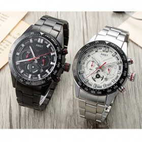 AMST Jam Tangan Chronograph Analog Pria - AM3021 - White/Silver - 2