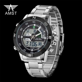 AMST Jam Tangan Digital Analog Pria - AM3005 - Black