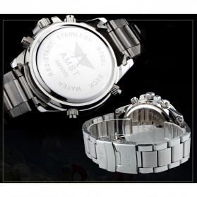 AMST Jam Tangan Digital Analog Pria - AM3005 - Silver/Gold - 4
