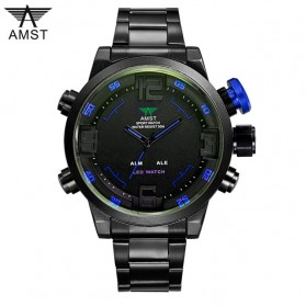 AMST Jam Tangan Analog Pria - AM3006 - Black/Blue