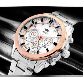 AMST Jam Tangan Analog Pria - AM3007 - Silver/Gold - 5