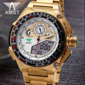 AMST Jam Tangan Analog Pria - AM3010 - Golden