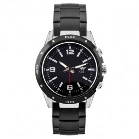 AMST Jam Tangan Analog Pria Stainless Steel - AM3011 - Black