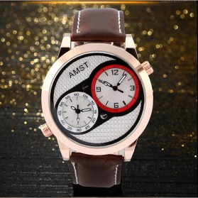AMST Jam Tangan Analog Kulit Pria - AM3012 - Golden - 3