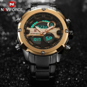 Navi Force Jam Tangan Analog Digital Pria - 9088 - Black Gold - 3