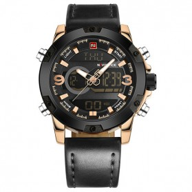 Navi Force Jam Tangan Analog Digital Pria - 9097 - Black