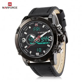 Navi Force Jam Tangan Analog Digital Pria - 9097 - Black/Black