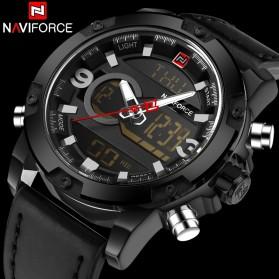 Navi Force Jam Tangan Analog Digital Pria - 9097 - Black/Black - 2
