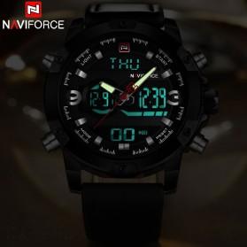Navi Force Jam Tangan Analog Digital Pria - 9097 - Black/Black - 3