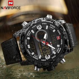 Navi Force Jam Tangan Analog Digital Pria - 9097 - Black/Black - 4