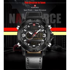 Navi Force Jam Tangan Analog Digital Pria - 9097 - Black/Black - 7