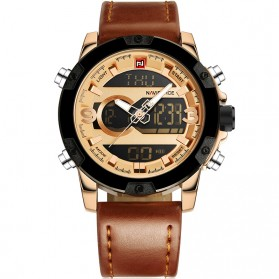 Navi Force Jam Tangan Analog Digital Pria - 9097 - Golden