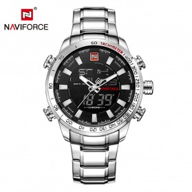 Navi Force Jam Tangan Analog Digital Pria - 9093 - Silver