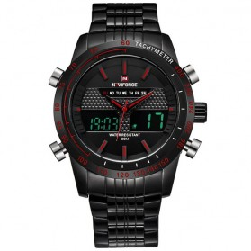 Navi Force Jam Tangan Analog Digital Pria - 9024 - Black/Red - 1