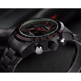 Navi Force Jam Tangan Analog Digital Pria - 9024 - Black/Red - 7